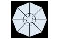 センター支柱タイプ8角形