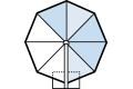 サイド支柱シングルパラソルタイプ8角形