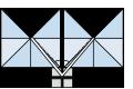 サイド支柱ダブルパラソルタイプ長方形