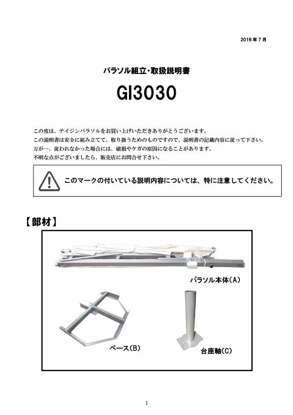 GI3030 取扱説明書