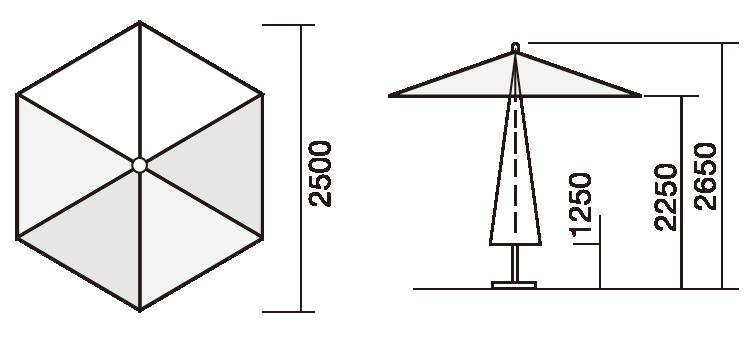 PL2500:パラソルサイズ