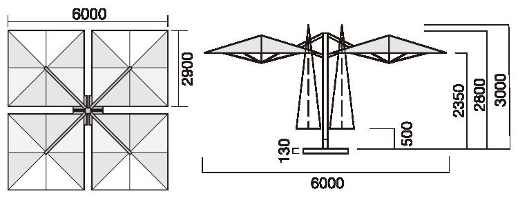 QT4360:パラソルサイズ