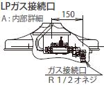 LPガス接続口